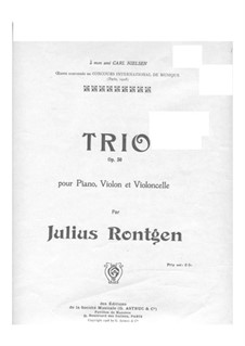 Piano Trio in C Minor, Op.50: Partitura completa by Julius Röntgen