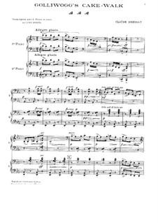 No.6 Golliwogg's Cakewalk: dois pianos de quatro mãos by Claude Debussy