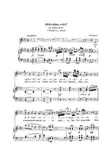 Otello: Act III, aria 'Deh calma, o ciel', for voice and piano by Gioacchino Rossini