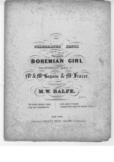 The Bohemian Girl: The Fair Land of Poland, for Voice and Piano by Michael William Balfe