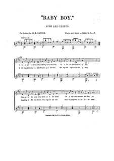 Baby Boy: For voice, choir and guitar by Isaac S. Daly
