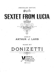Lucia di Lammermoor: Act II, Sextet, for voice and piano by Gaetano Donizetti