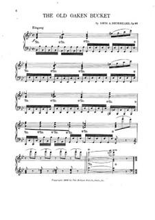 The Old Oaken Bucket: Para Piano by George F. Kiallmark