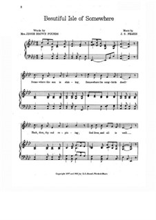 Beautiful Isle of Somewhere: para vozes e piano by John Sylvester Fearis