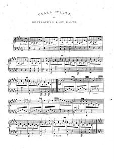 Clara Waltz: Clara Waltz by Unknown (works before 1850)