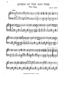Queen of Ragtime. A Syncopated Two Step: Queen of Ragtime. A Syncopated Two Step by Jas. H. Davis