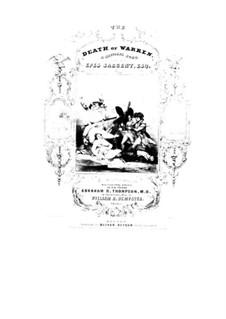 Death of Warren: Death of Warren by William Richardson Dempster