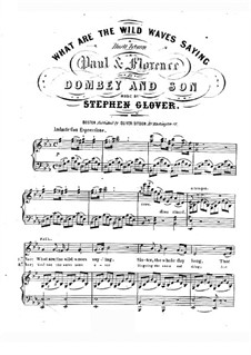 What are the Wild Waves Saying: Version for voices and piano by Stephen Glover