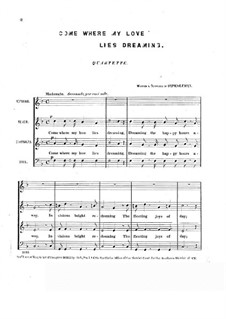 Come Where My Love Lies Dreaming: para vozes by Stephen Collins Foster