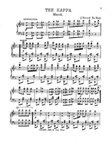 The Kappa. March for Piano: The Kappa. March for Piano by J. Howard Eu Daly
