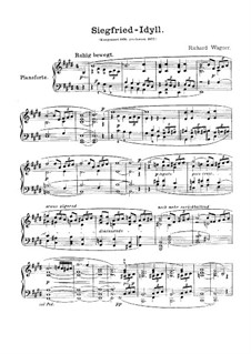 Siegfried Idyll, WWV 103: Para Piano by Richard Wagner