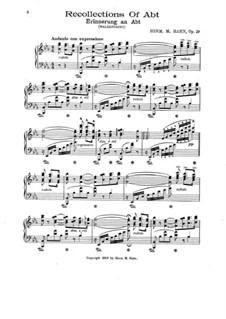 Recollections of Abt, Op.29: Recollections of Abt by Herm. M. Hahn