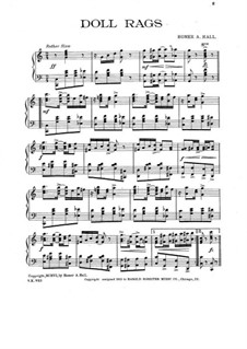 Doll Rags for Piano: Doll Rags for Piano by Homer A. Hall