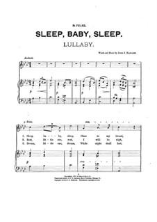 Sleep, Baby, Sleep. Lullaby: Sleep, Baby, Sleep. Lullaby by John J. Handley