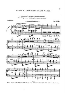 Major R. Anderson's Grand March, Op.1312: Major R. Anderson's Grand March by Charles Grobe
