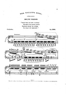 The Tolling Bell Approaching Mount Vernon, Op.1090: The Tolling Bell Approaching Mount Vernon by Charles Grobe