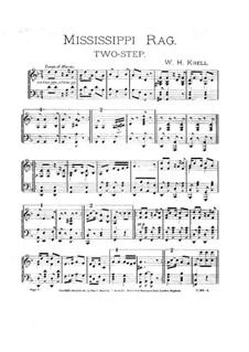 Mississippi Rag: Para Piano by William H. Krell