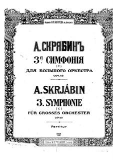Symphony No.3 in C Minor 'The Divine Poem', Op.43: Partitura completa by Alexander Scriabin