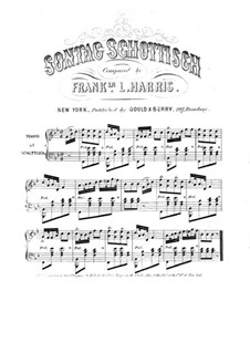 Sontag Schottisch for Piano: Sontag Schottisch for Piano by Franklin L. Harris