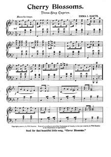 Cherry Blossoms. Three-Step Caprice for Piano: Cherry Blossoms. Three-Step Caprice for Piano by Emma I. Harte
