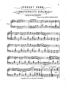 Forest Park. March and Two-Step for Piano: Forest Park. March and Two-Step for Piano by Fred W. Hashagen