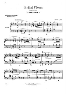 Bridal Chorus: para piano (com dedilhado) by Richard Wagner