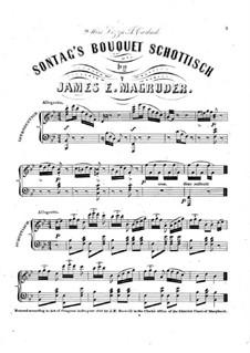 Sontag's Bouquet Schottisch: Sontag's Bouquet Schottisch by James E. Magruder