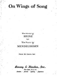 Six Songs, Op.34: No.2 Auf flügeln des gesanges (On Wings of Song) by Felix Mendelssohn-Bartholdy