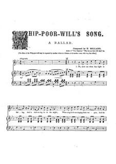 Whip-Poor-Will's Song: Whip-Poor-Will's Song by Harrison Millard