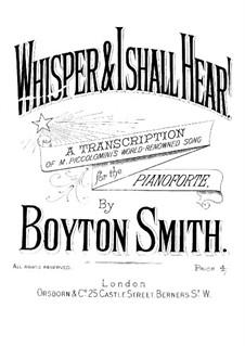 Whisper, and I shall Hear: Whisper, and I shall Hear by Boyton Smith