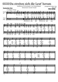 Volkslieder: Da streiten sich die Leut' herum: Volkslieder: Da streiten sich die Leut' herum, Op.353 by Conradin Kreutzer