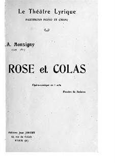 Rose et Colas: Rose et Colas by Pierre-Alexandre Monsigny