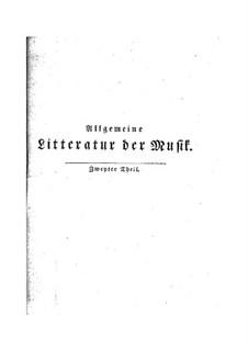 General Literature of Music: livro II by Johann Nikolaus Forkel