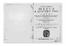 Messa a quattro voci et salmi, SV 190–204: Messa a quattro voci et salmi by Claudio Monteverdi