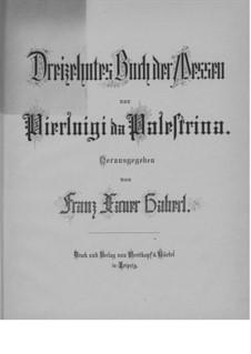 Four Masses: Four Masses by Giovanni da Palestrina