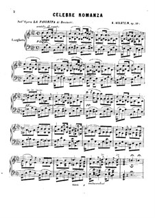 Celebre romanza nell'opera 'La favorite' de Donizetti, Op.29: Celebre romanza nell'opera 'La favorite' de Donizetti by A. Holstein