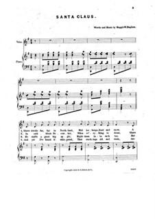 Santa Claus: Para vocais e piano by Maggie W. Hughan