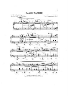 Waltz-Caprice, Op.7: valsa- caprice by Robert A. Newland