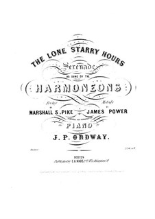 The Lone Starry Hours: para vozes e piano by James Power