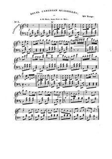 Royal Canadian Quadrilles for Piano: Royal Canadian Quadrilles for Piano by William Range