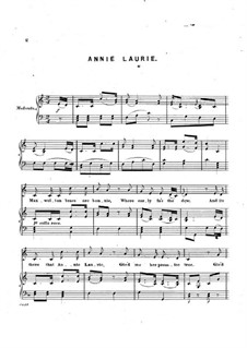 Annie Laurie: Annie Laurie by Unknown (works before 1850)