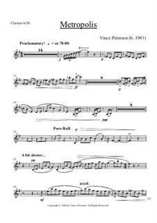 Metropolis: parte clarinete by Vince Peterson