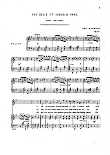 The Belle of Lincoln Park, Op.170: The Belle of Lincoln Park by George Schleiffarth