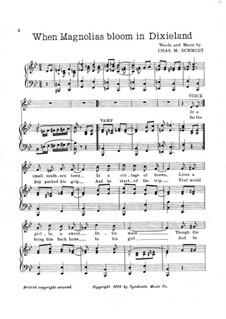 When Magnolias Bloom in Dixieland: When Magnolias Bloom in Dixieland by Chas. M. Schmidt