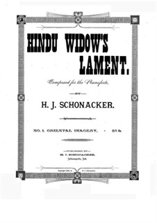 Hindu Widow's Lament: Hindu Widow's Lament by Hubert J. Schonacker