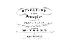 Overture to Demophon: Overture to Demophon by Johann Christoph Vogel