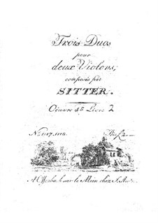 Three Duos for Two Violins: livro II by P. A. Sitter