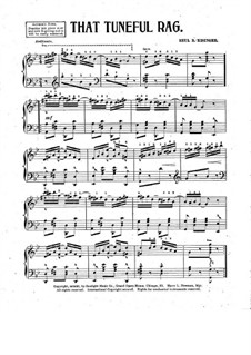 That Tuneful Rag for Piano: That Tuneful Rag for Piano by Beul B. Risinger