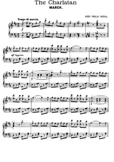 The Charlatan: Act II No.9, for Piano by John Philip Sousa