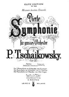 Symphony No.4 in F Minor, TH 27 Op.36: Para Piano by Pyotr Tchaikovsky